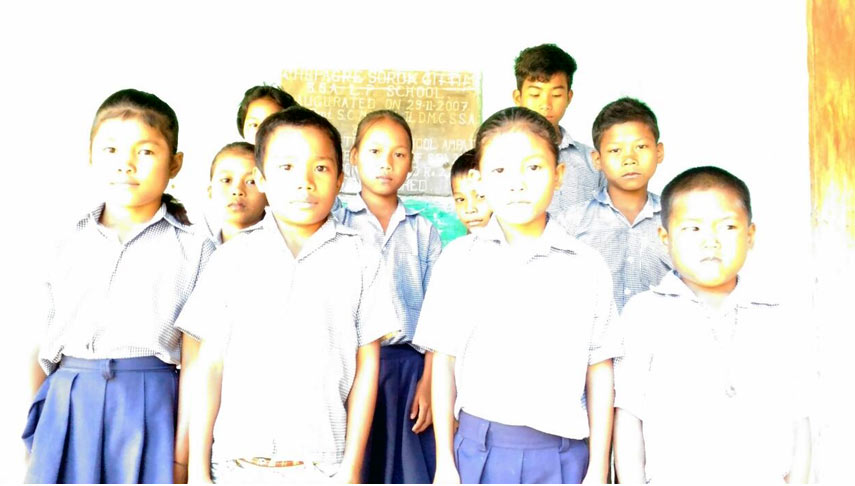 Members of the Sanitation club formed in the school